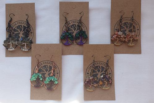 Tree of Life Earrings - Gaia Creations