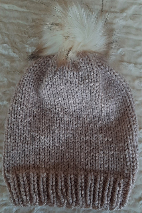 Hand Knit Ladies/ Adult-Slouchy Wool Blend Beanies - It's A Wrap and Sew On