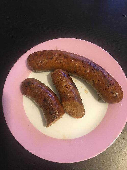 Bratwurst with garlic (3 pk - pork, mild)  - Fred's Sausages