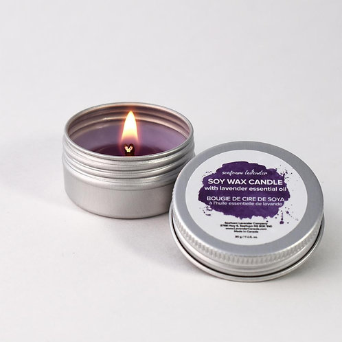 Lavender Essential Oil Tea Candle - Seafoam Lavender Company