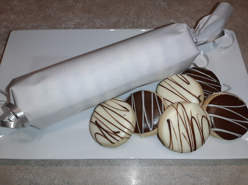 Chocolate Dipped Shortbread (dozen) - Karyn's Cookies & Treats