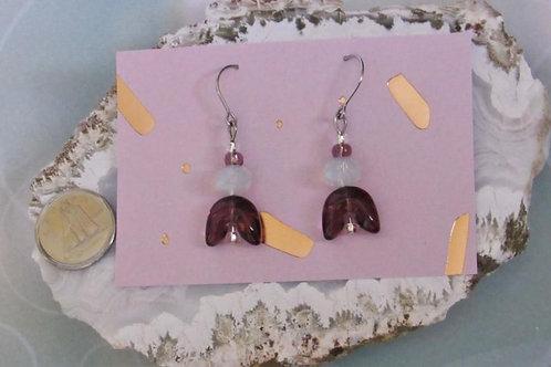 Amethyst Drops Earrings - Linn's Creative Jewelry