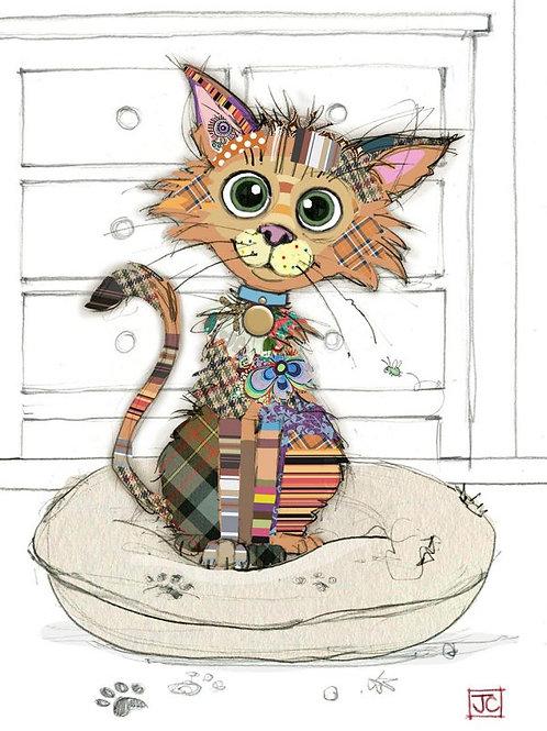 Bug Art Card-Kooks – Kitten – Blank (5″ x 7″) - Elements By Dr