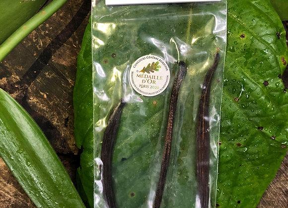 Vanille noire Planifolia 3 gousses en sachet
