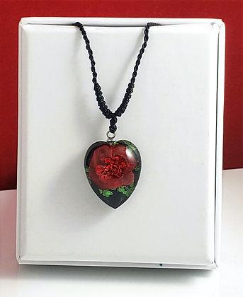 Rose Flower Black Heart