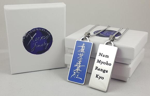 Nichiren Buddhist Daimoku Necklace - Blue