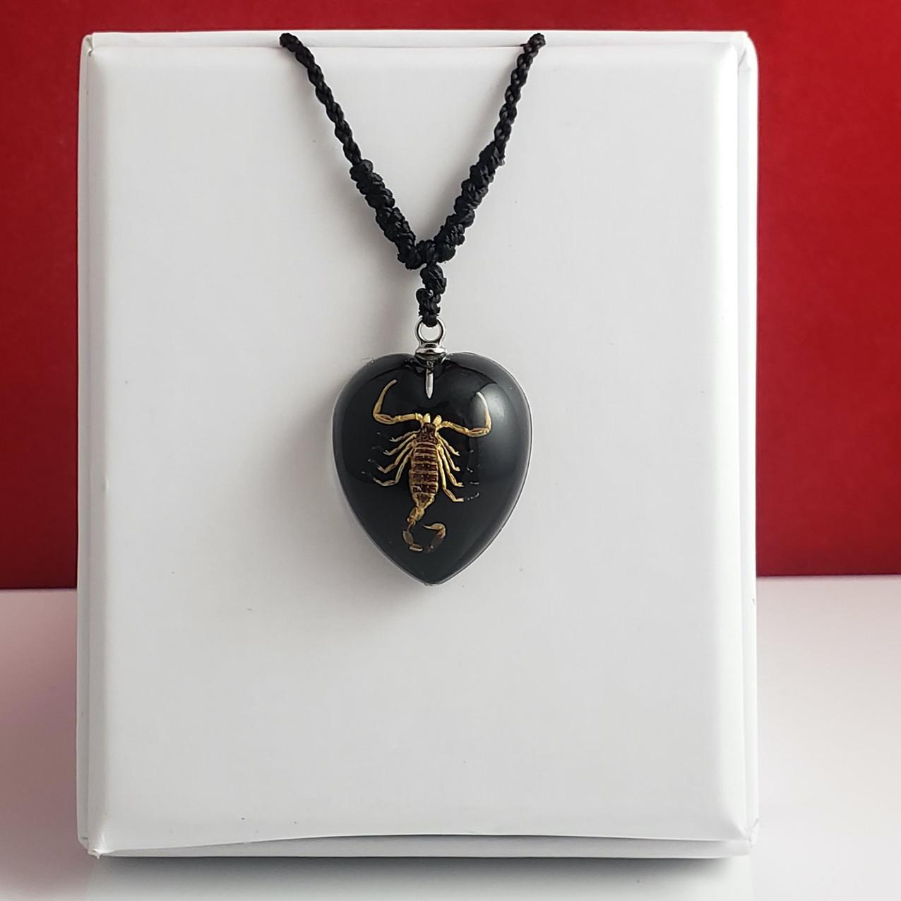 Gold Scorpion Black Heart
