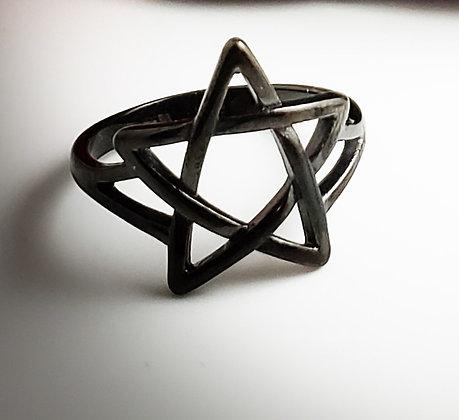 Pentagram Ring SS 316L Black