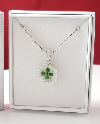 Real 4 Leaf Clover Necklace