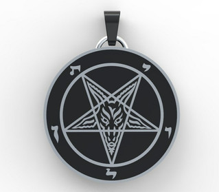 Sigil of Baphomet Sterling Silver .925