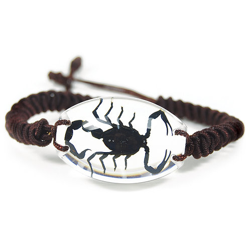 Bracelet ovale Scorpion noir