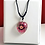 Thumbnail: Purple Flower with Pink Leaves Clear Heart