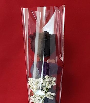 Black Rose & Purple Carnation Bouquet