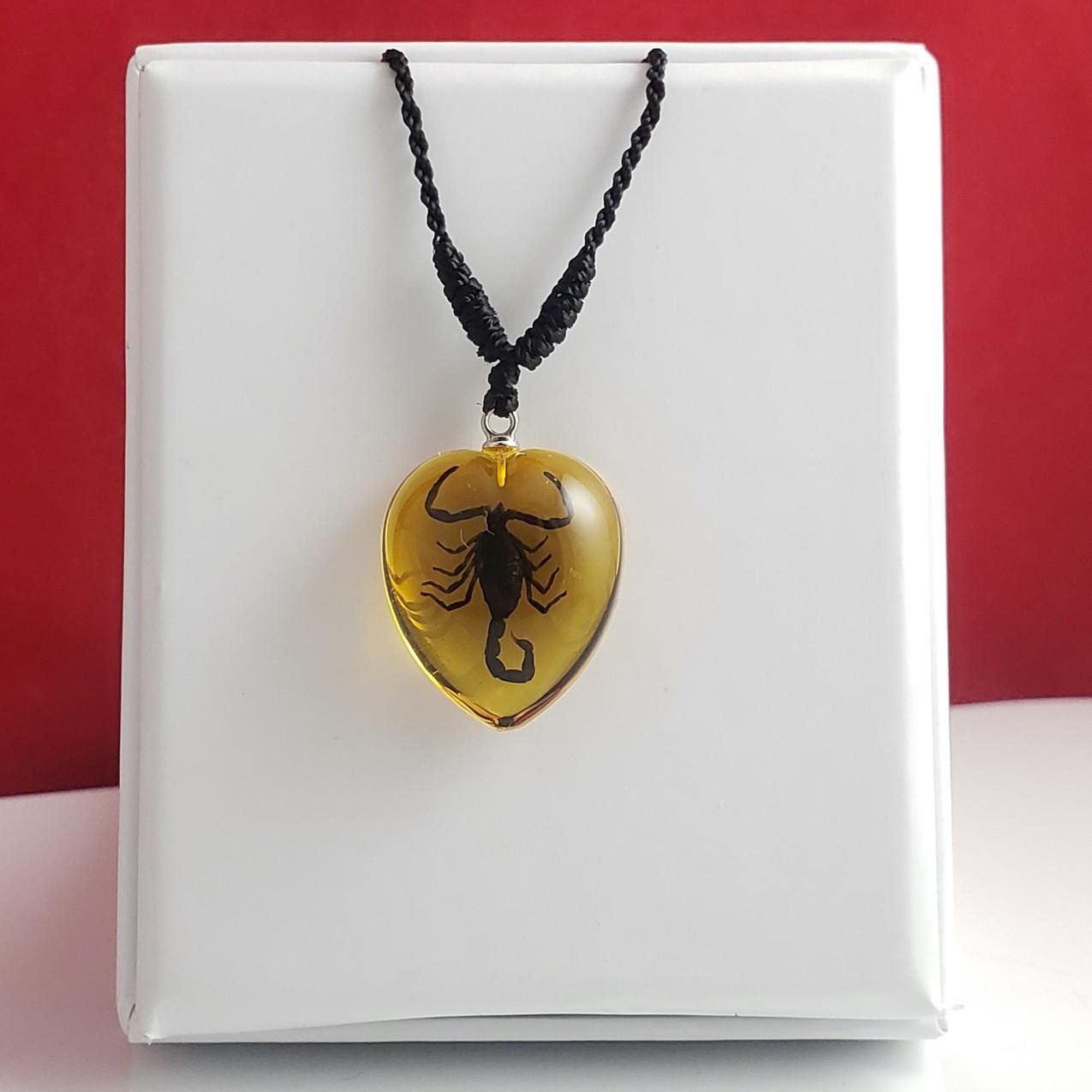 Black Scorpion Gold Heart