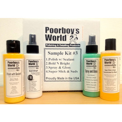 Poorboy's World Clean and Protect Sample Kit #3