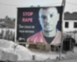 """Billboard """"Stop Rape"""""""