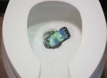Why do cell phones always fall in the toilet?