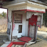 The original Brookfield Drive-In ticket booth