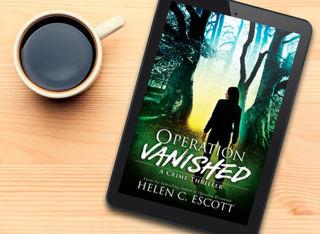 Helen C. Escott continues her one-woman crime spree in the literary world - Operation Vanished book
