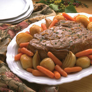 The secret to a good marriage is a good pot-roast