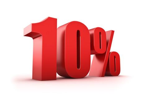 Скидка 10% по понедельникам