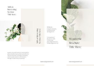 Minimalist & Versatile Trifold Brochure