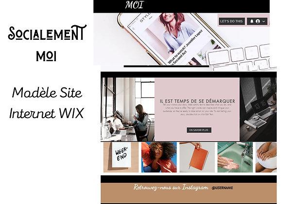 """Modèle site web """"Socialement Moi"""""""