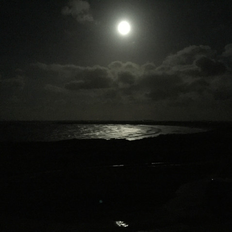 Supermoon over the bay