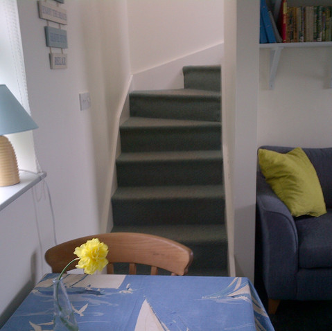 Stairs to bedroom from sitting room