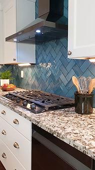 blue tile kitchen