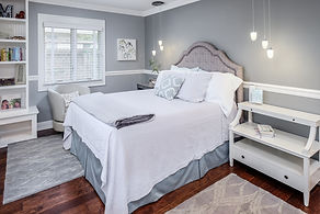 bed white teen room gray grey