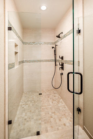 bathroom master glass shower tile