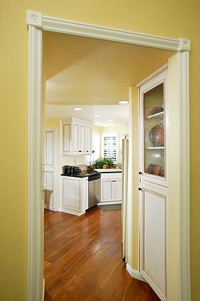 kitchen white cabinets yellow small