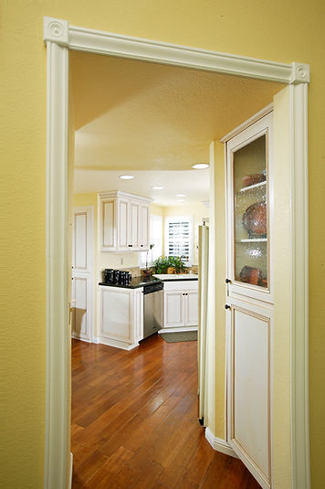 kitchen white cabinets yellow small