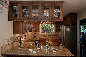 glass front cabinets kitchen