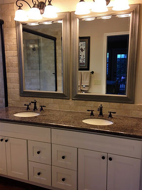 bathroom white cabinets sink