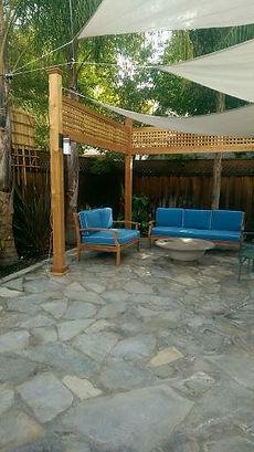 backyard remodel patio sail cloth