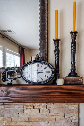 mantle fireplace clock