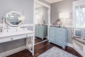 teen room grey gray white blue