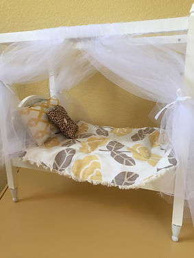 yellow bedding custom doll