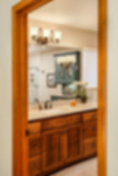 bathroom master teal wood