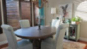 dining room aqua bunny