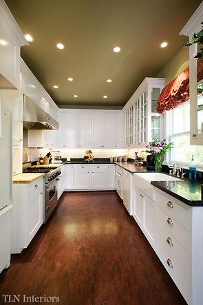 white kitchen small galley