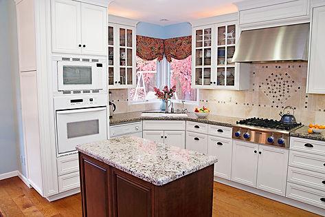 white kitchen hidden storage