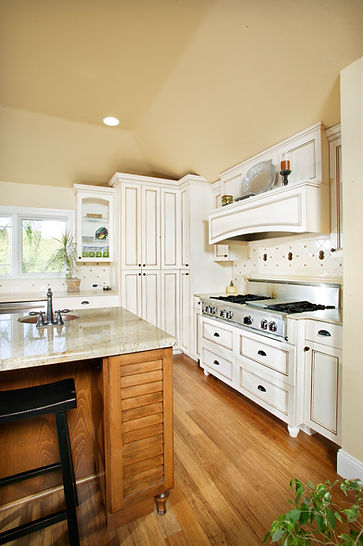 white cabinets island kitchen