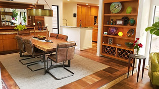 Contemporary dining room live-edge table