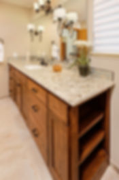bathroom master wood sink