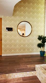 contemporary entry wallpaper