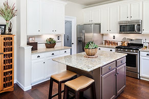 kitchen white cabinets island