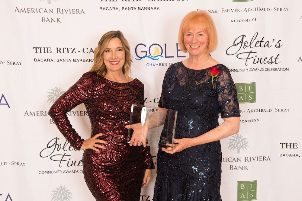 Jennifer McGovern and guest at Goleta Chamber of Commerce award ceremony